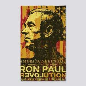 Ron Paul Distressed Poster 2009 3'x5' Area Rug