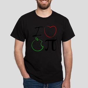 I Love Apple Pi Dark T-Shirt
