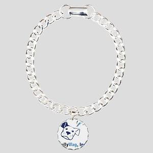 BullyWag-square Charm Bracelet, One Charm