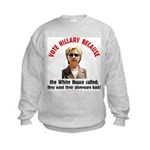 Vote Hillary Because Kids Sweatshirt