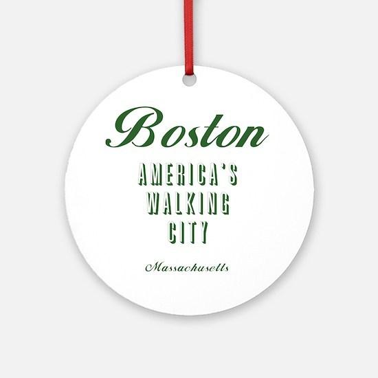 Boston_10x10_Americas Walking City_ Round Ornament