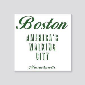 "Boston_10x10_Americas Walki Square Sticker 3"" x 3"""