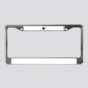 Green Flower License Plate Frame