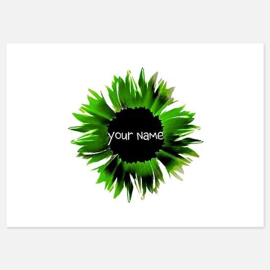 Green Flower Invitations