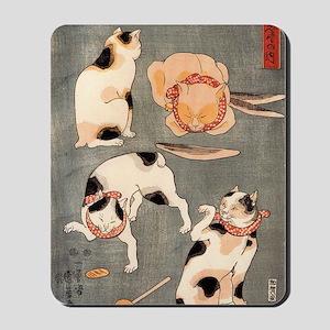 Kuniyoshi cats Mousepad