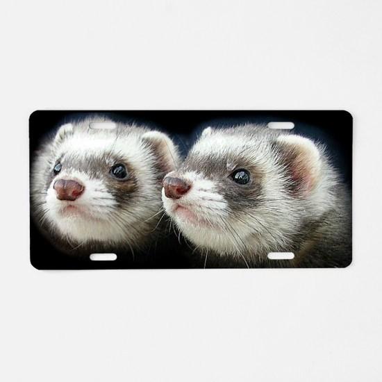 2 ferrets_laptop_skin Aluminum License Plate