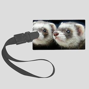 2 ferrets_laptop_skin Large Luggage Tag