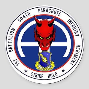 Devil 1-504 v1 Round Car Magnet