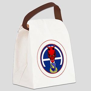 Devil 1-504 v1 - white Canvas Lunch Bag