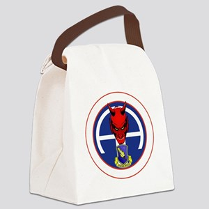 Devil 2-504 v1 - white Canvas Lunch Bag