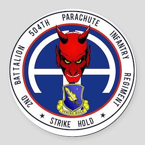 Devil 2-504 v1 Round Car Magnet