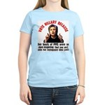 Vote Hillary Because Women's Light T-Shirt