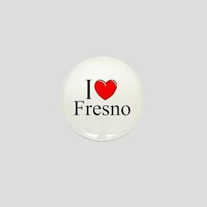 """I Love Fresno"" Mini Button"