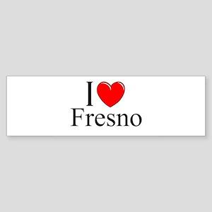 """""""I Love Fresno"""" Bumper Sticker"""