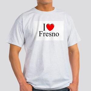 """I Love Fresno"" Ash Grey T-Shirt"