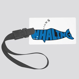 WhalingBlows Large Luggage Tag
