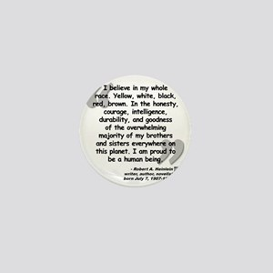 Heinlein Believe Quote Mini Button