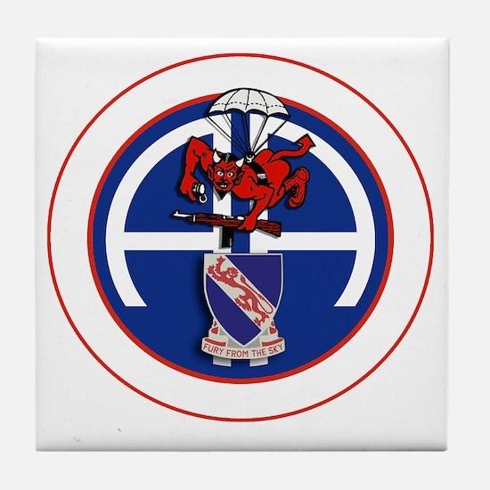 Fury 1st 508th v1 - white Tile Coaster