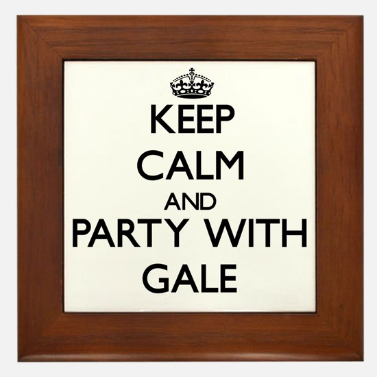 Keep Calm and Party with Gale Framed Tile