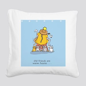 catladyfriend Square Canvas Pillow