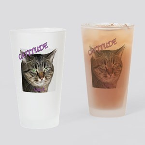Catitude 2 10x10 Drinking Glass