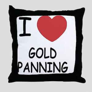 GOLD_PANNING Throw Pillow
