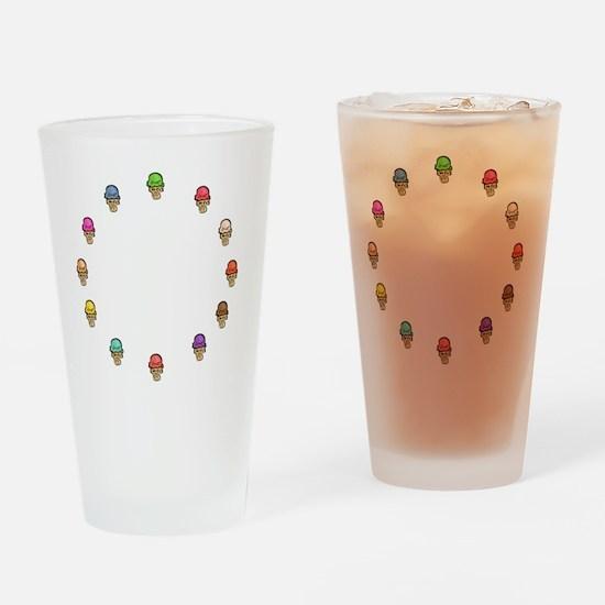 ice cream circle Drinking Glass