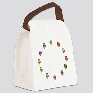 ice cream circle Canvas Lunch Bag