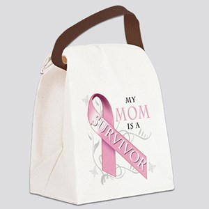 My Mom is a Survivor Canvas Lunch Bag