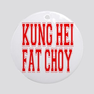 Kung Hei Fat Choy Ornament (Round)