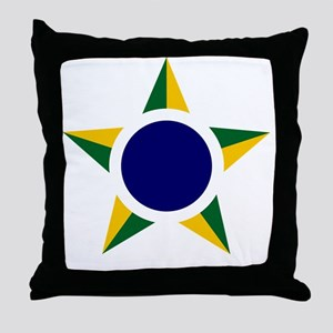 8x10-Brazilian_Air_Force_roundel Throw Pillow