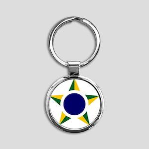 8x10-Brazilian_Air_Force_roundel Round Keychain