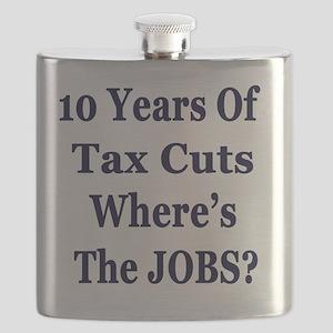 10 years jobs lt Tshirt Flask