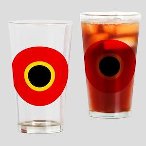 7x7-Roundel_of_Belgium_1945 Drinking Glass