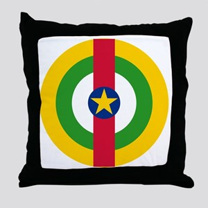 7x7-Roundel_central_african_republic Throw Pillow