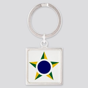 7x7-Brazilian_Air_Force_roundel Square Keychain