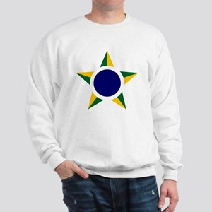 7x7-Brazilian_Air_Force_roundel Sweatshirt
