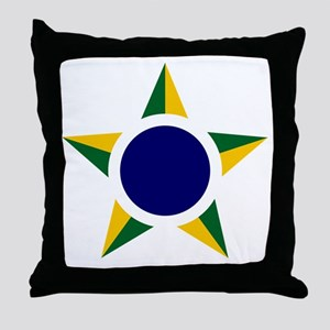 7x7-Brazilian_Air_Force_roundel Throw Pillow