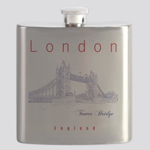 London_10x10_TowerBridge_BlueRed Flask