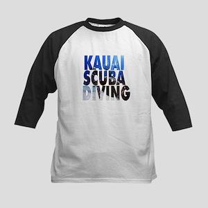 Kauai Scuba Diving Kids Baseball Jersey