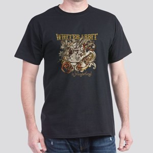 whiterabbit-flourishes-gold Dark T-Shirt