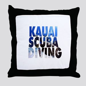 Kauai Scuba Diving Throw Pillow