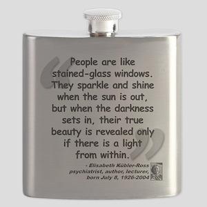 Kubler-Ross Light Quote Flask
