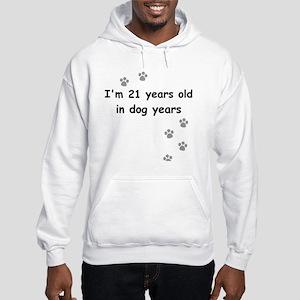 21 dog years 3 Hooded Sweatshirt