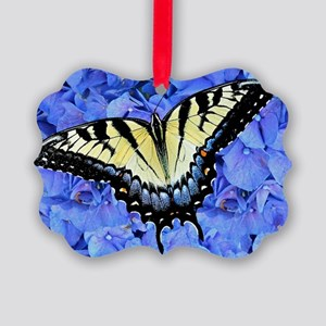 Yellow Swallowtail Butterfly Lapt Picture Ornament