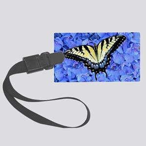 Yellow Swallowtail Butterfly Lap Large Luggage Tag