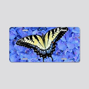 Yellow Swallowtail Butterfl Aluminum License Plate
