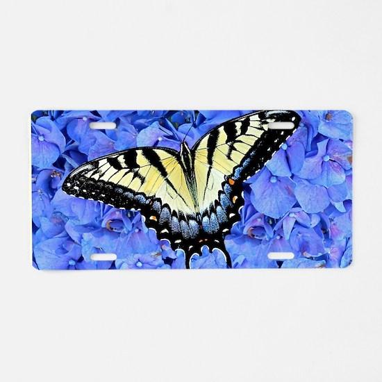 Yellow Swallowtail Butterfl Aluminum License Plate