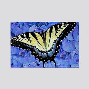 Yellow Swallowtail Butterfly Lapt Rectangle Magnet