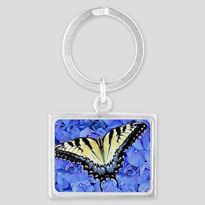 Yellow Swallowtail Butterfly La Landscape Keychain